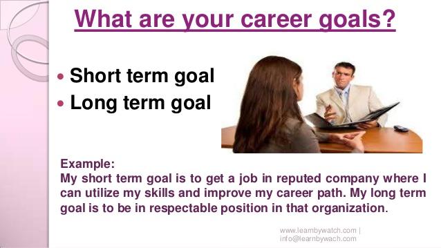 Long term goal essay