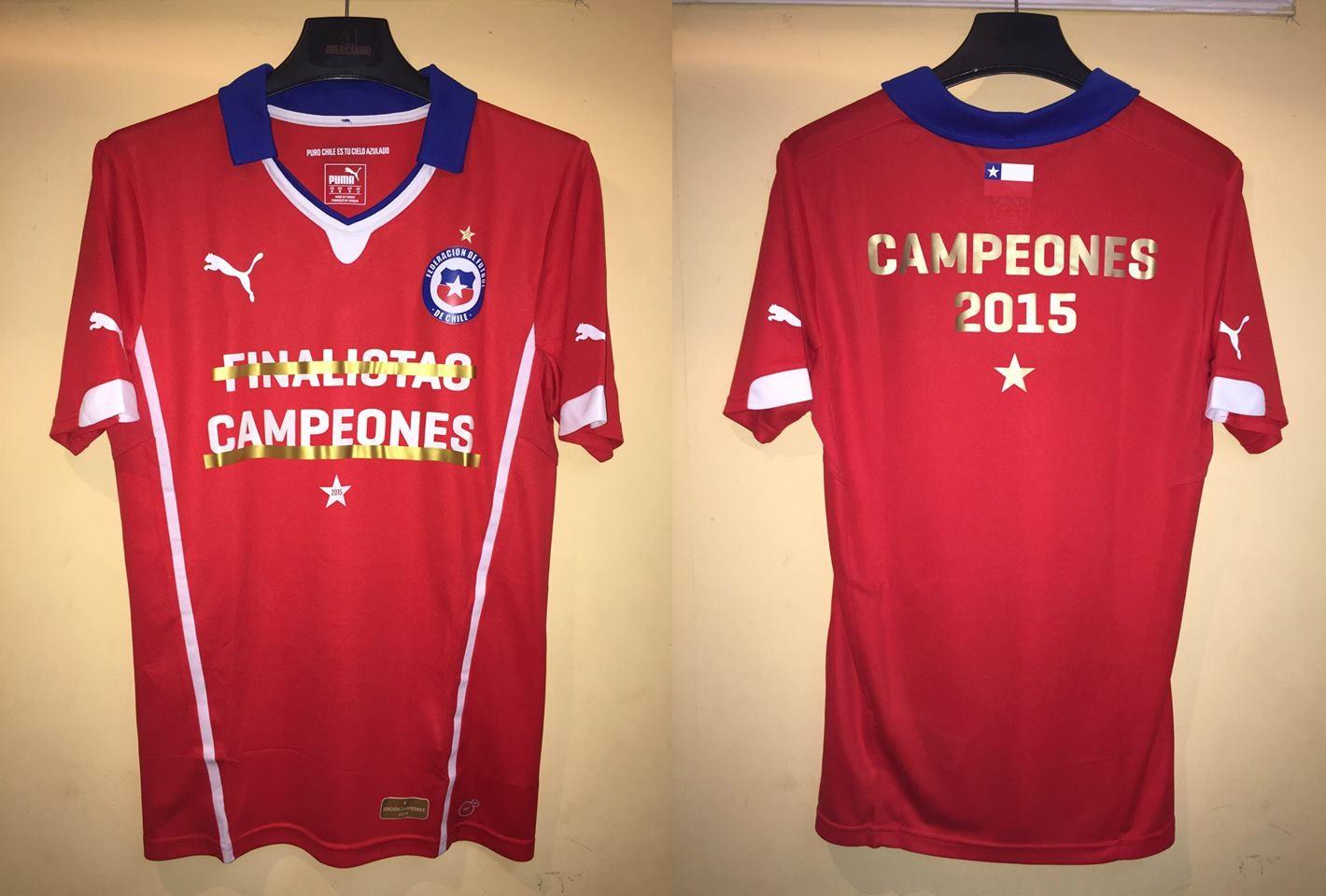 Seleccion Chilena FINALISTAS CAMPEONES 2015 COPA AMERICA be6ecdbccad6a