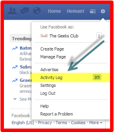 How To Remove Activity Log On Facebook