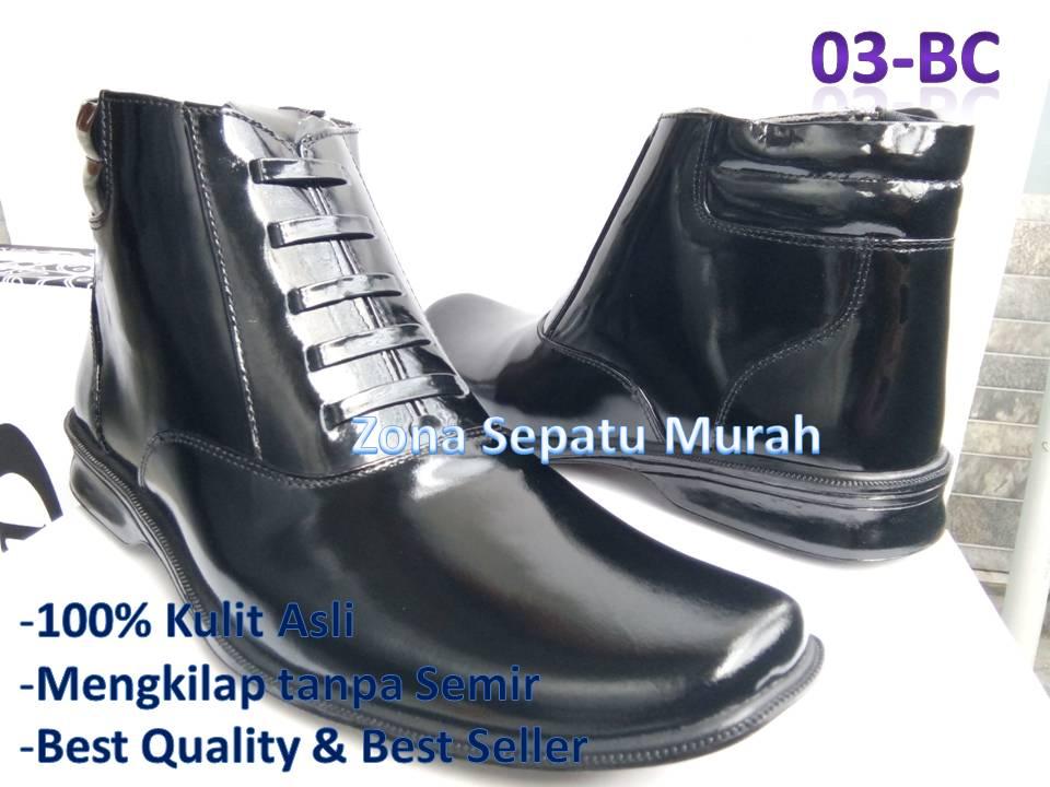 Bahan   Kulit Sapi BC Warna   Hitam Mengkilap Model   Resleting Aktif    Tali variasi. Size   39 - 45. Status   Ready stok. Harga eceran    210.000 pasang a2306e9827