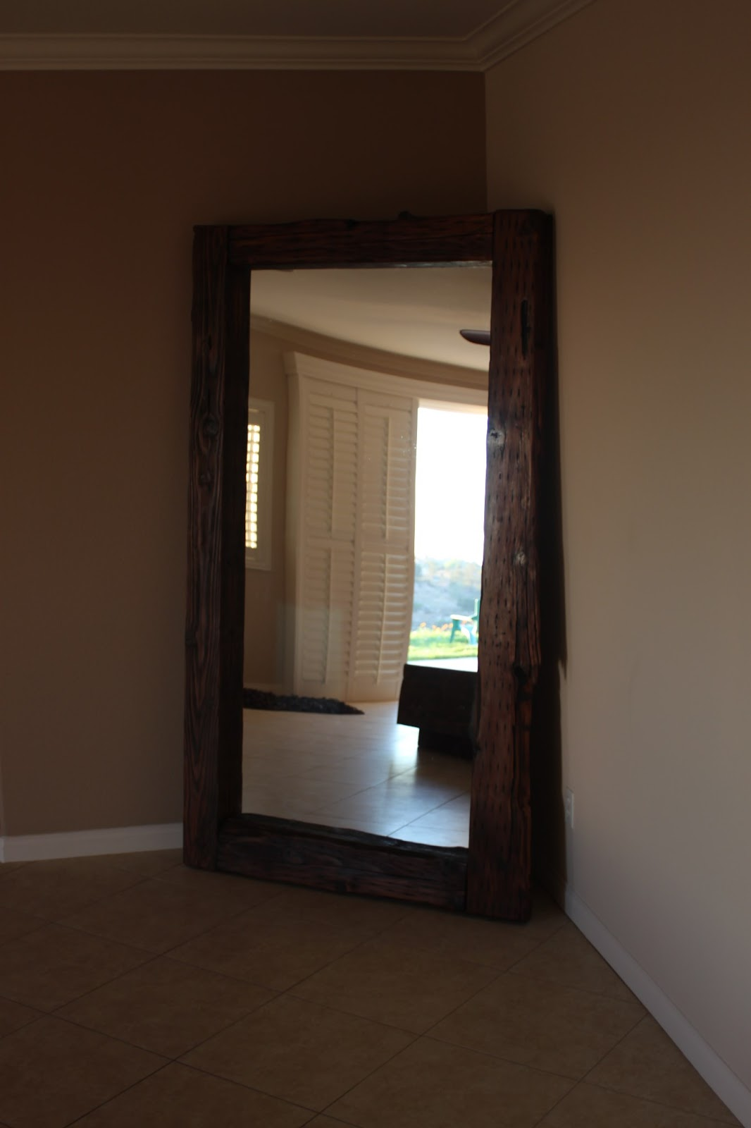 The Polish Carpenter 7 Ft Tall Reclaimed Wood Mirror