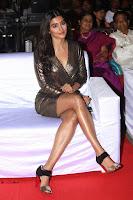 Pooja Hegde looks glamarous in deep neck sleevless short tight golden gown at Duvvada Jagannadham thank you meet function 045.JPG