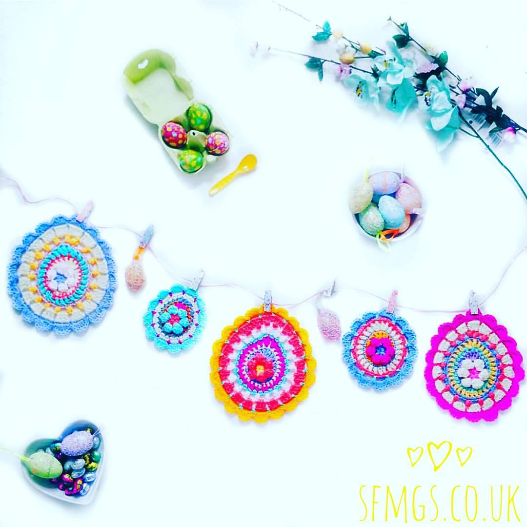 easter crochet mandala bunting