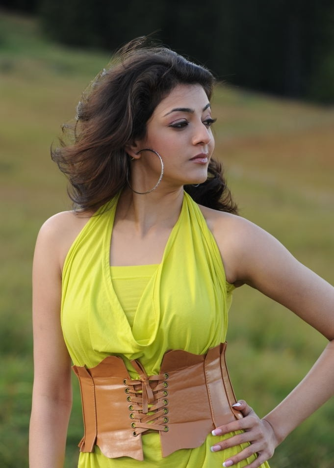 Tollywood Actress Kajal Agarwal Hot Sizzling Yellow Dress Gallery