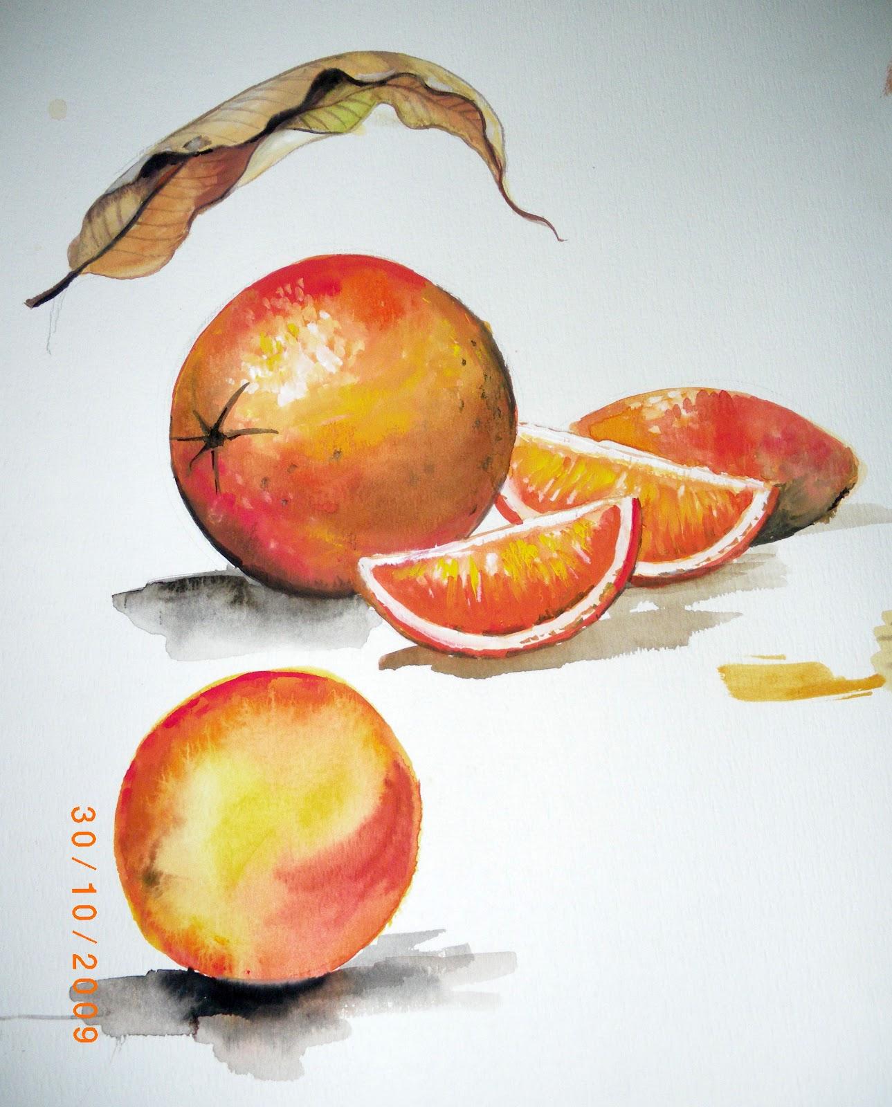 Lukisan Buah Buahan Menggunakan Pensil