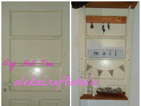 DIY Salvaged Door Hall Tree with Aleka Craftaholic