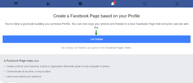 how can i create my facebook profile to Facebook Page, create a facebook page very easily, make a facebook page, personal facebook account to facebook page, Convert Personal Facebook Account to Facebook Page,