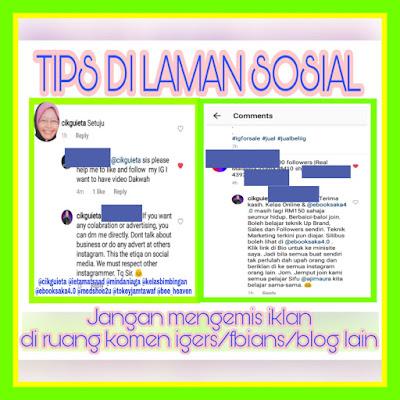 Tips di laman Sosial Instagram