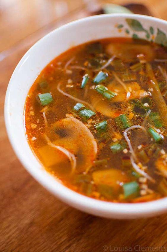 Spicy Ginger Scallion Soup #SOUP #ASIAN #MAINCOURSE #VEGAN