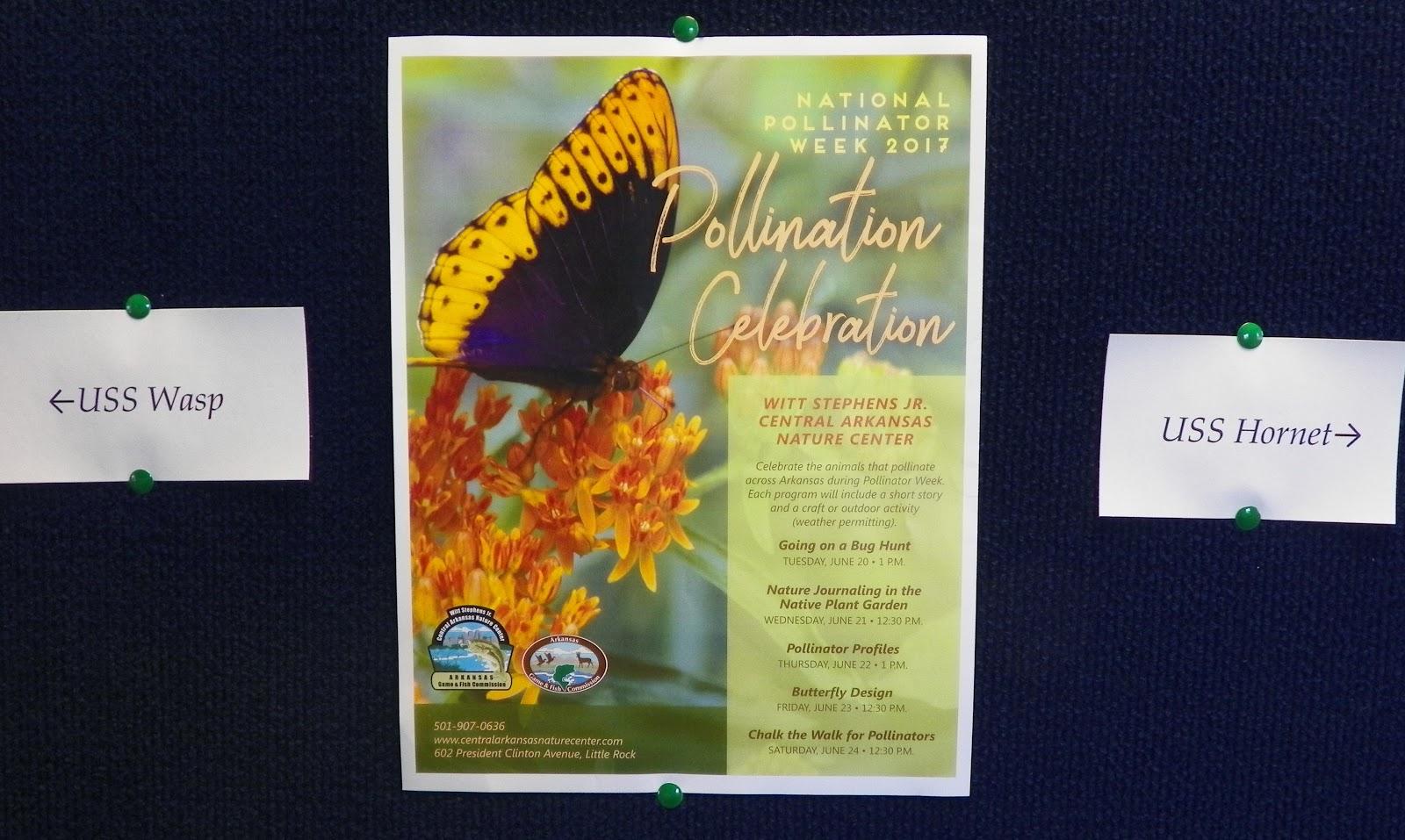 National Pollinator Week Arkansas Inland Maritime