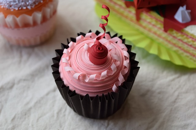 Chocolate Cupcake with Pink Frosting