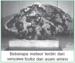 Teori Cosmozoic atau teori Kosmozoan - Batu meteor