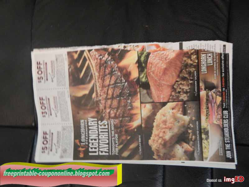 It's just an image of Astounding Longhorn Steakhouse Coupons Printable 2014