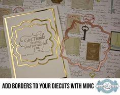 Add foil borders to dies with Minc machine video  -Becca Feeken
