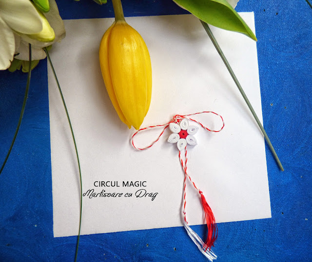 Martisoare Quilling 2017 Flori de Cires Circul Magic