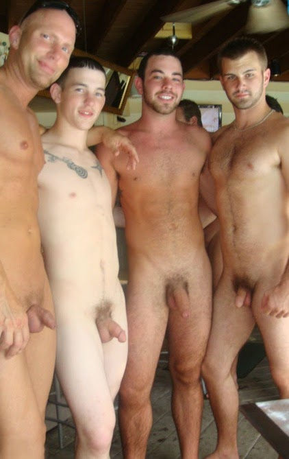 Nude with friends erection — img 11