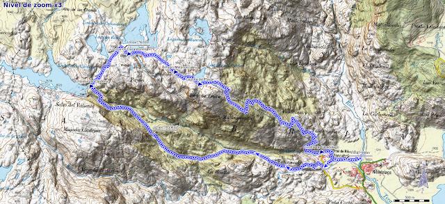Mapa ruta Cañones Cárdena y Segundera