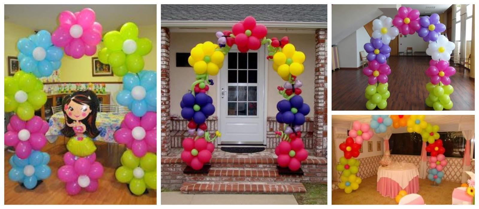 Aprende cómo hacer arcos de globos con forma de flor ~ cositasconmesh