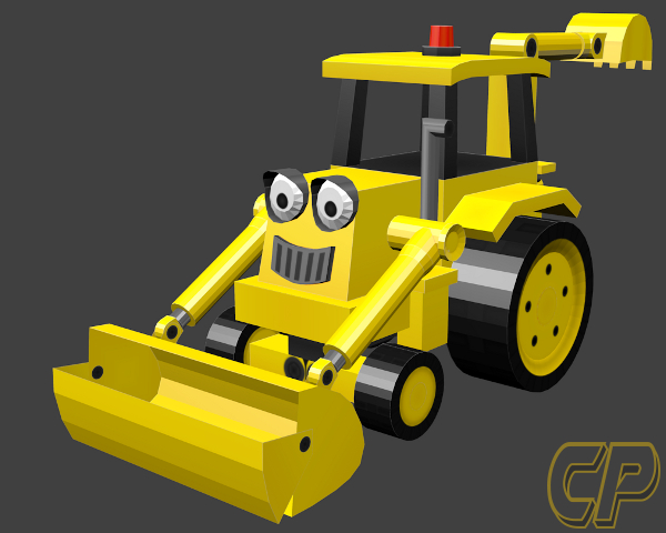 Wip 3d Model Scoop From Bob The Builder