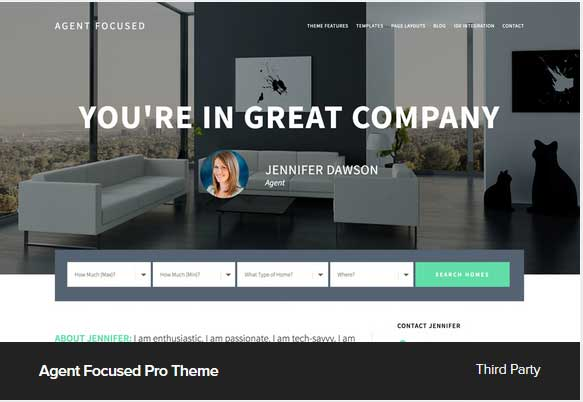 Agent Focused Pro theme Award Winning Pro Themes for Wordpress Blog : Award Winning Blog