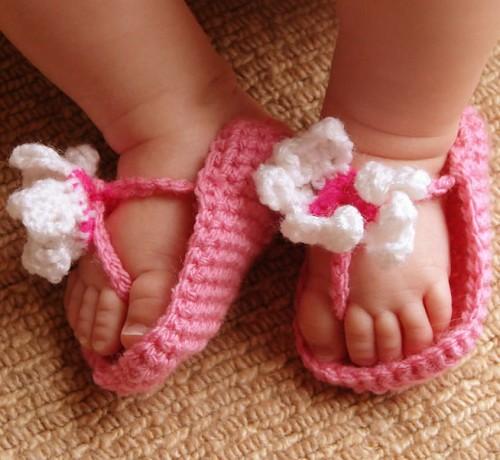 Baby Girl FlipFlop Sandals - Free Pattern