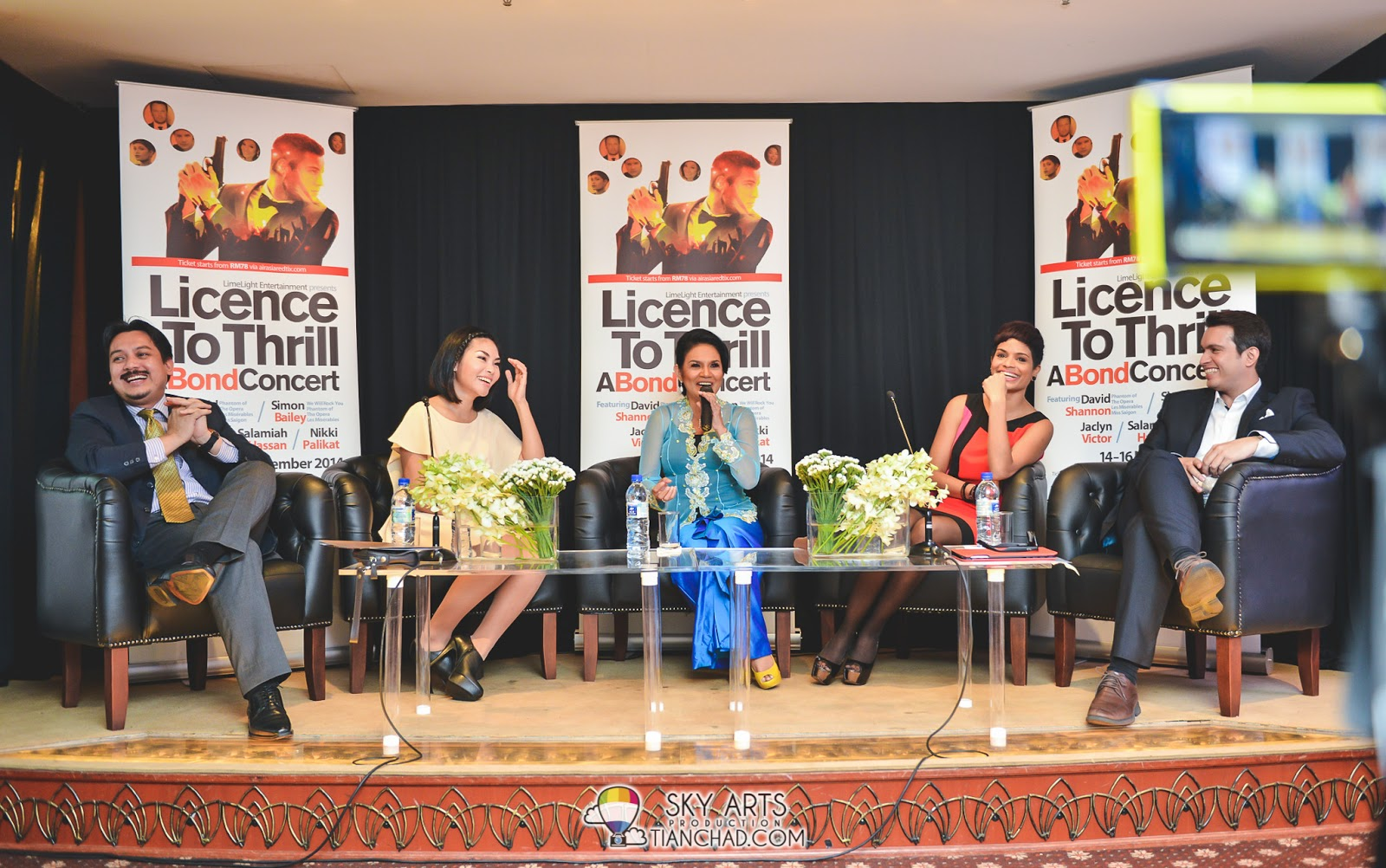 Candid photo taken during Licence To Thrill: A Bond Concert Press Conference