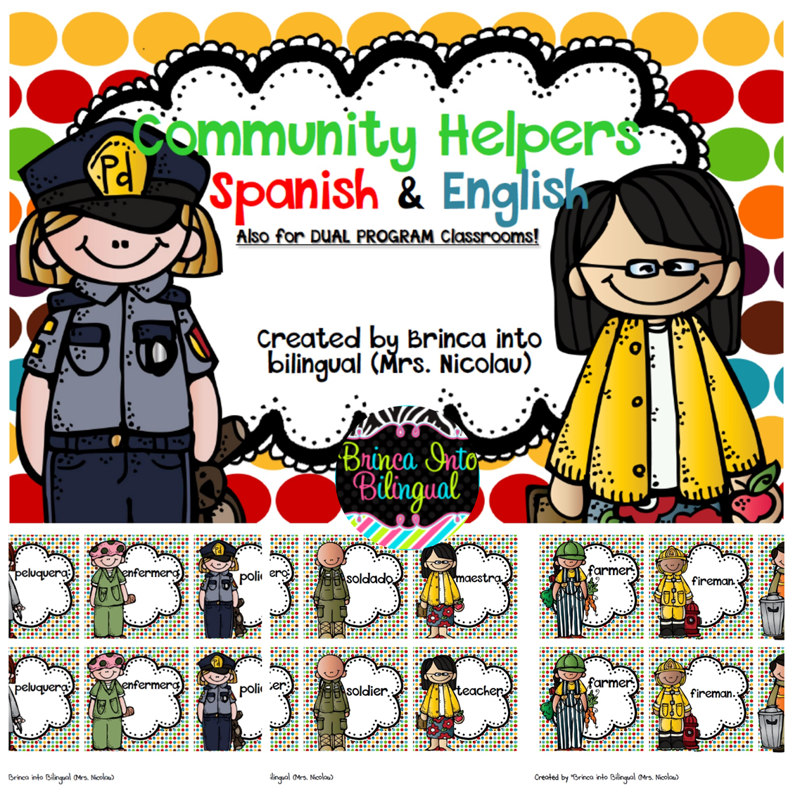 Brinca Into Bilingual Mrs Nicolau Community Helpers
