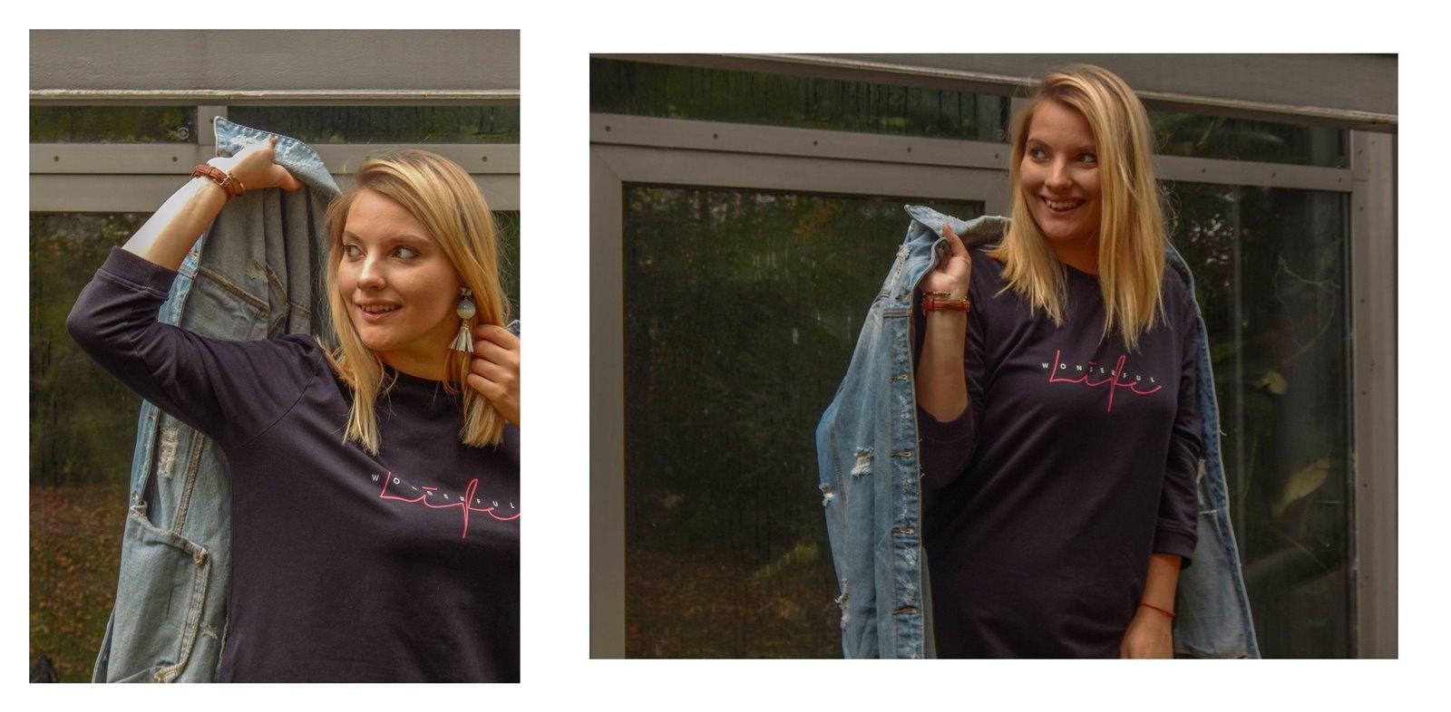 8A jak wybrać kurtkę jeansową najmodniejsze fasony kurtek sukienek płaszczy jak ubierać blondynkę stylizacje short blonde hair hairstyle melody łódź blog lifestyle fashion