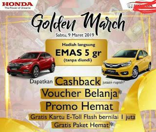 Promo Honda Mudik Lebaran 2019, Bonus Emas 5 Gram,Voucher belanja, Gratis E Toll Flash, Mobilio, Brv, Brio, Jazz, Hrv, Crv Turbo, Civic Turbo, City, Accord, Odyssey