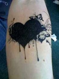 Dark coração sente borboletas muito