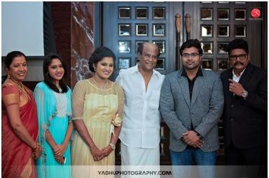 Rajnikanth at the Maalica wedding