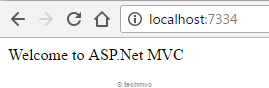Running asp.net mvc application