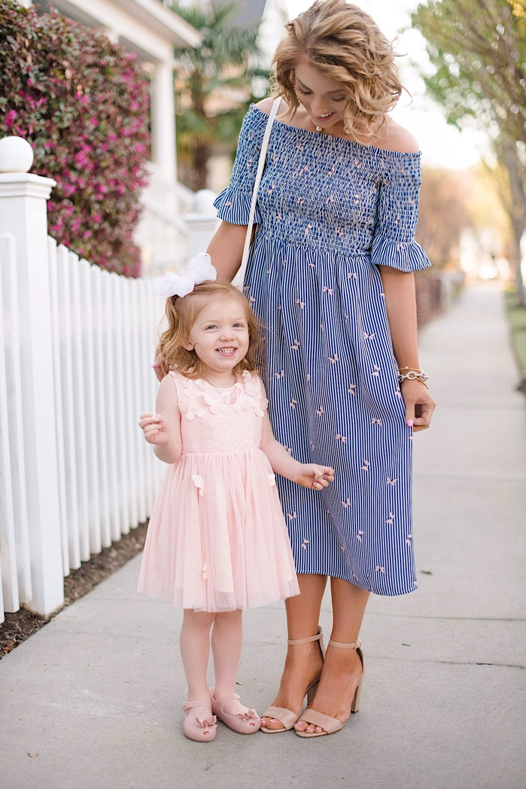 Easter Outfits: Mommy and Me Butterfly Dresses - Something Delightful Blog