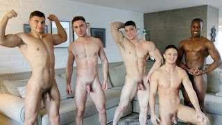 HOT Gay Orgy – Collin Simpson with Tyler, Alex, Forrest & Zach