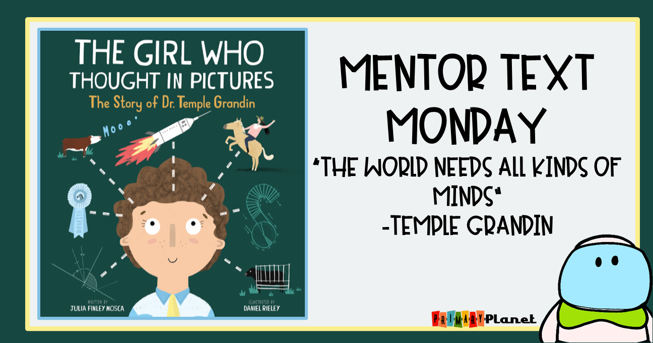 Mentor Text Monday!  The Girl Who Thought in Pictures: Meta cognition Freebie!