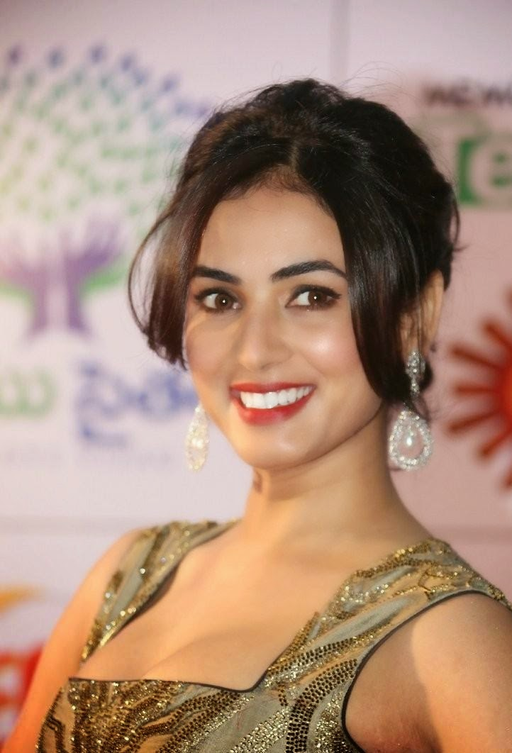 Sonal Chauhan grin at South Indian Movie Event