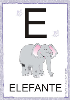 Vogais Ilustradas  para Imprimir