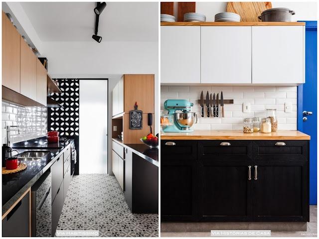 decoração de cozinha com preto