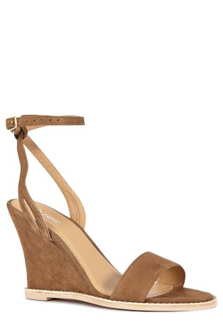 Next Leather Ankle Strap Wedges