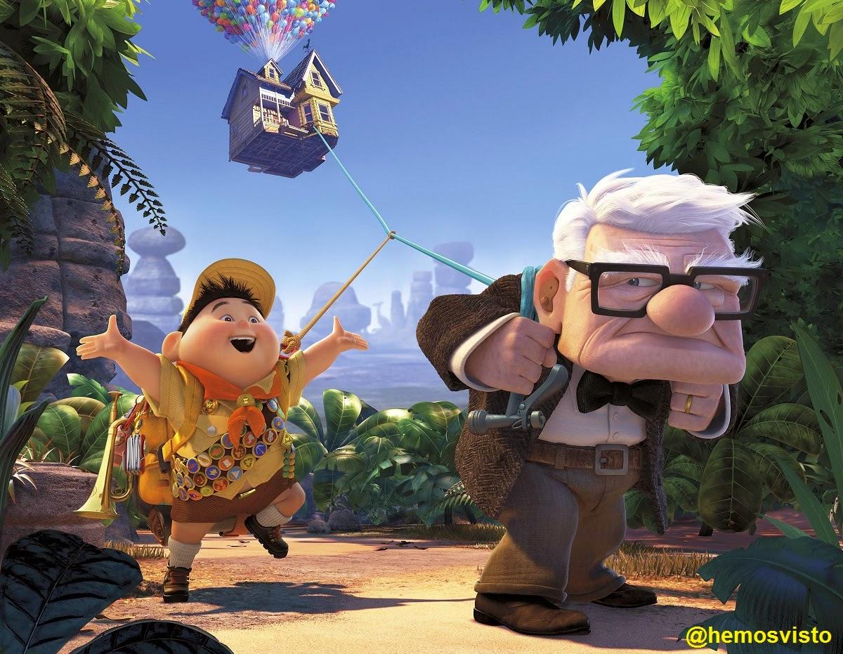 """Rusell y Carl, protagonistas de """"Up"""""""