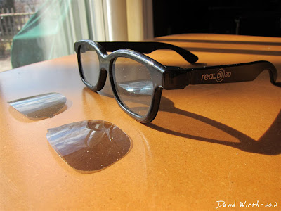 Real D 3D Glasses Polarized Lenses