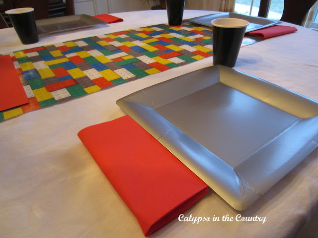 Lego Place Setting and Gift Wrap Table Runner