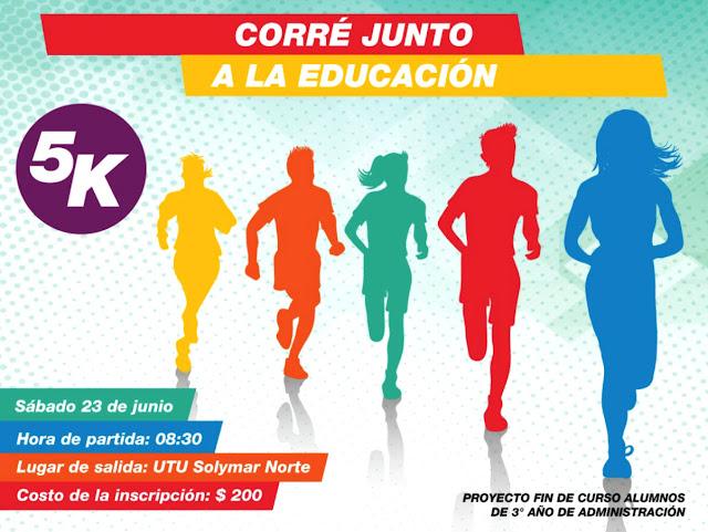5k Corré junto a la educación (UTU Solymar Norte - Canelones, 23/jun/2018)