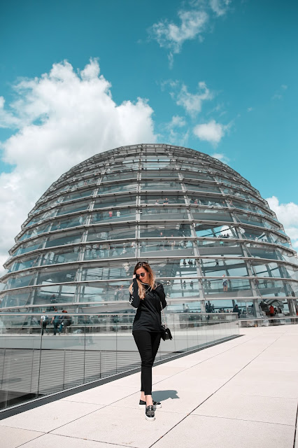 Alicia Mara at The Reichstag Building Dome