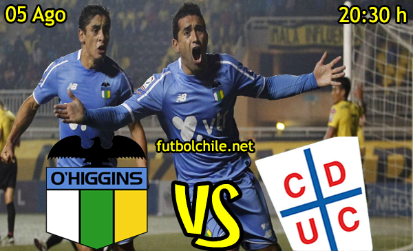 Ver stream youtube facebook movil android ios iphone table ipad windows mac linux resultado en vivo, online: O'Higgins vs Universidad Católica
