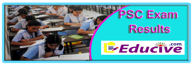 PSC Exam results 2016