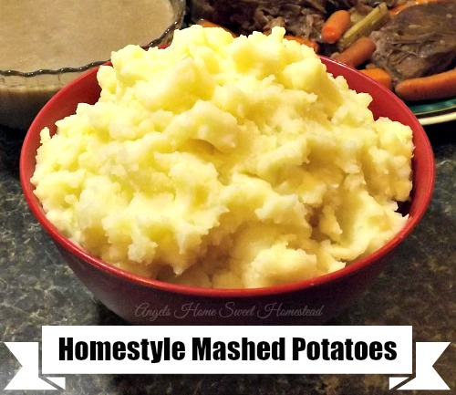 Home Sweet Homestead: Homemade Mashed Potatoes