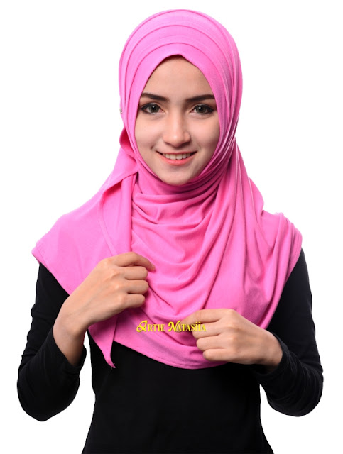 tudung semi instant terlaris Natasha Basics kain cotton