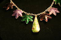 Seasons necklace - sterling silver, cloisonee :: All the Pretty Things