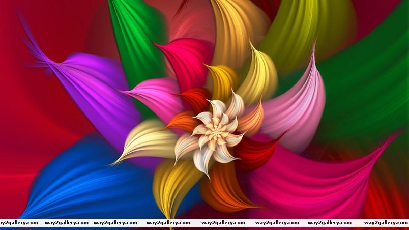 Satiny bloom wallpaper